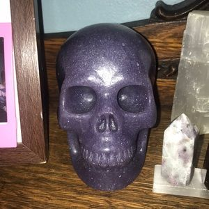Purple Aventurine Crystal Skull